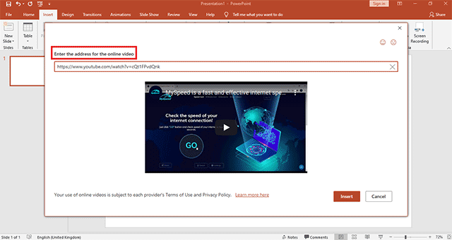 insert video to powerpoint